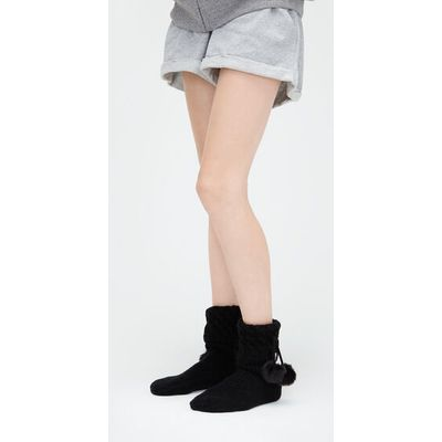 UGG Pom Pom Short Rain Boot Sock Womens Cold Weather Accessories Black