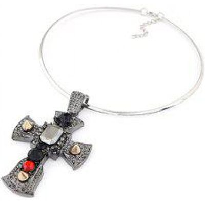 Chic Big Cross Pendant Chokers Necklace For Women