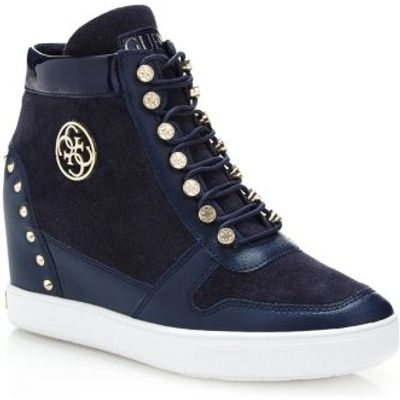 Guess Falan Suede Wedge Sneaker