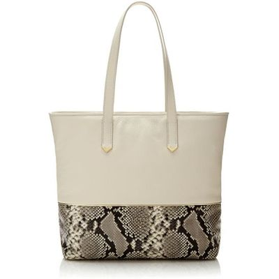 Guess Fraise Python Print Leather Shopper