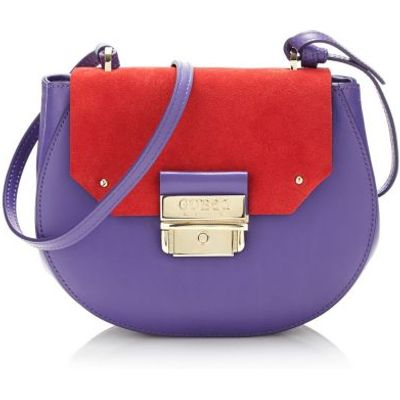 Guess Maelle Leather Crossbody Bag
