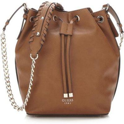 Guess Fynn Crossbody Bucket Bag