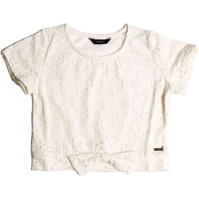 Guess Kids Perforated Pattern T-Shirt