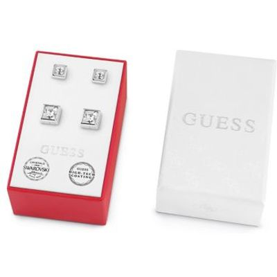 Guess Box Set With White Crystal Earrings