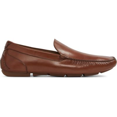 Aldo Giangrande slip on loafers, Cognac