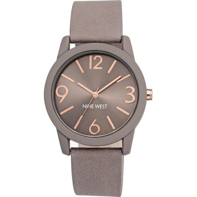 Nine West Taupe and rose gold watch, Taupe