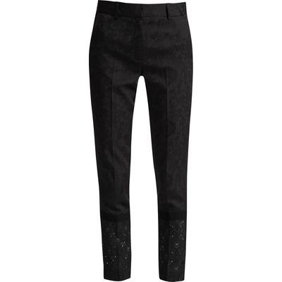 French Connection Francisco Jacquard Lace Trousers, Black