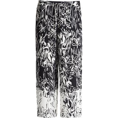 French Connection Copley Crepe Flared Trousers, Black