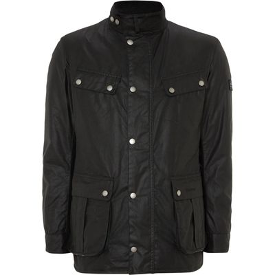 Men's Barbour Wax International Duke Jacket, Black