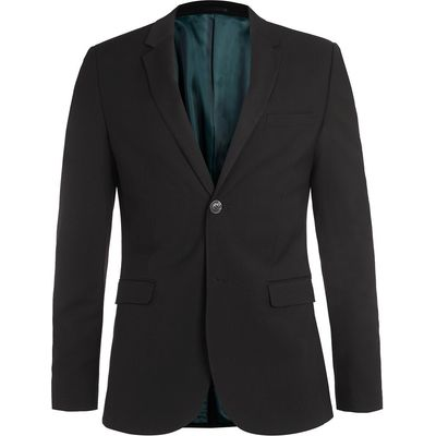 Men's Topman Ultra skinny fit suit jacket, Black