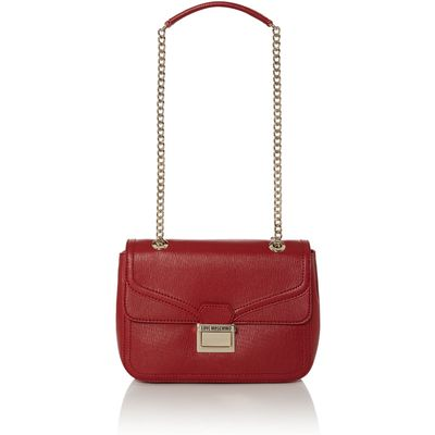 Love Moschino Red flap over shoulder bag, Red