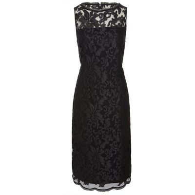 Pied a Terre Slash neck lace dress, Black