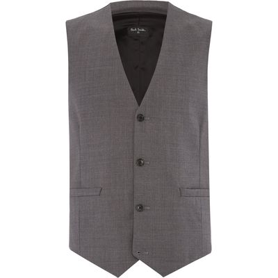 Men's PS By Paul Smith Wool Waistcoat, Grey