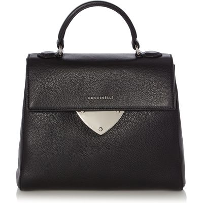 Coccinelle Linea b14 black medium satchel bag, Black