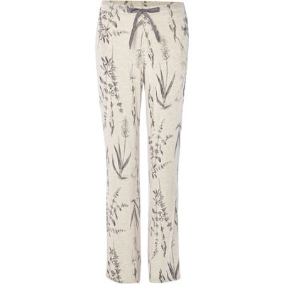 Linea Botanical illustration jersey trousers, Oatmeal Marl