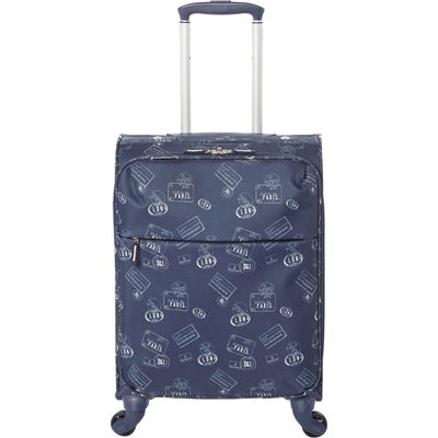 Dickins & Jones Voyage navy 4 wheel soft cabin suitcase, Blue