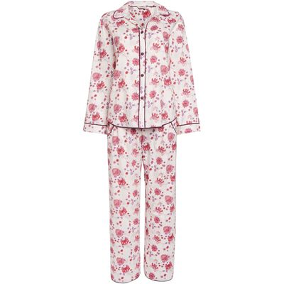 Cyberjammies Floral print pyjama set, Cream