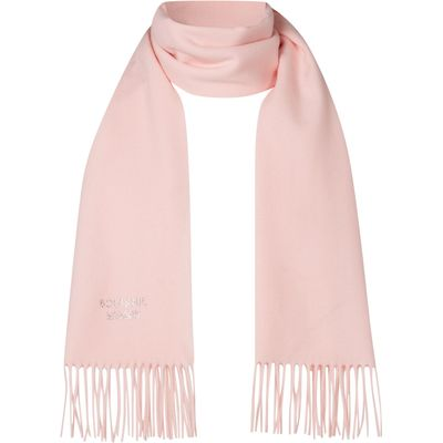 Boutique Moschino Diamante logo scarf, Light Pink