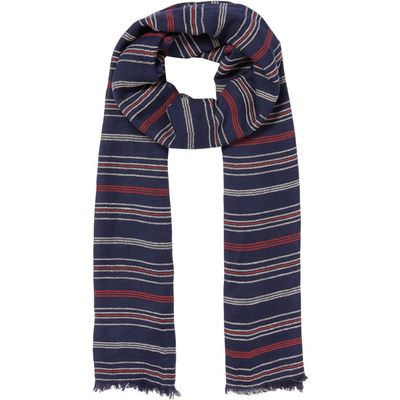 Dickins & Jones Woven Stripe Textured Scarf, Blue