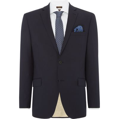 Men's Corsivo Como Italian Wool Textured Suit Jacket, Blue