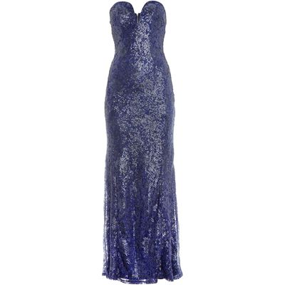 tfnc Strapless Lace Maxi with Sequin Detail, Blue