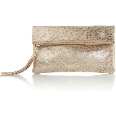 Biba Foldover clutch bag, Gold