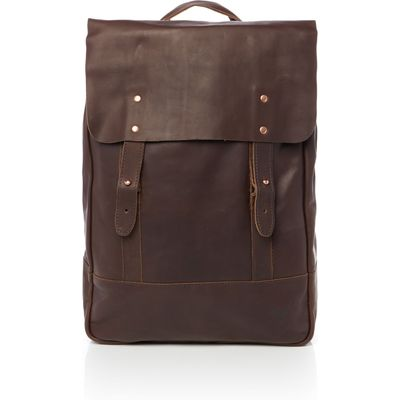 Lyle and Scott Leather Rucksack, Brown