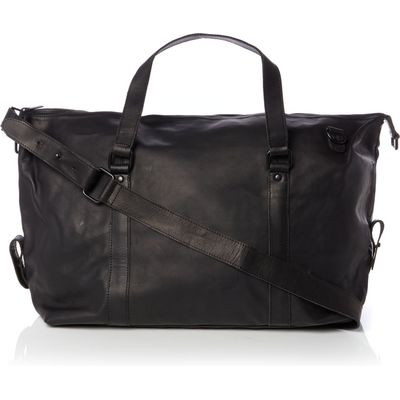 Lyle and Scott Leather Holdall, Black