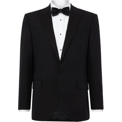 Men's Turner & Sanderson Marlow SB2 Peak lapel dinner suit jacket, Black
