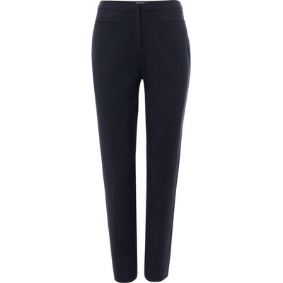 Ellen Tracy Slim fit trousers with welt pocket, Navy