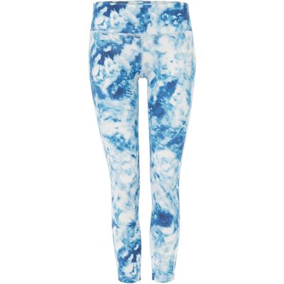 Seafolly Carribean ink 7/8 sports legging, Blue