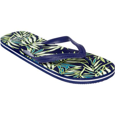 Criminal Palm Print Flip Flops, Blue