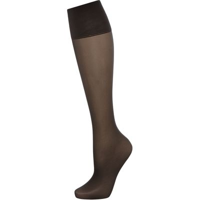 Charnos 5 Per Packet Sheer Knee High Socks, Barely Black