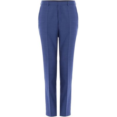 Men's Hugo Genius Textured Suit Trousers, French Blue