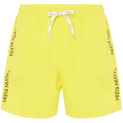 Men's Calvin Klein Taping Logo Swim Short, Yellow