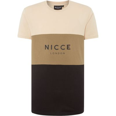 Men's Nicce Khaki Panel T-Shirt, Khaki