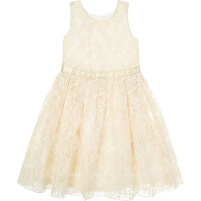 Disney The Boutique Collection Girls Belle Rose Lace Dress, Cream