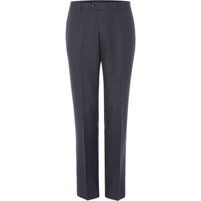 Men's Turner & Sanderson Airedale Italian Wool Textured Suit Trouser, Charcoal