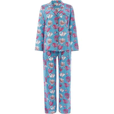 Cyberjammies Bella floral print pj set, Blue