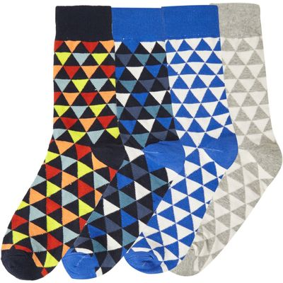 Men's Jack & Jones 4PK Jacpete ankle sock, Multi-Coloured