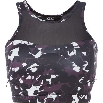 Acai Acai Berry Crop Top, Black