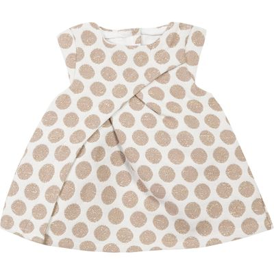 Absorba Girls Polka Dot Dress, White