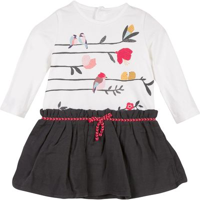 Catimini Girls Bird Dress, Multi-Coloured