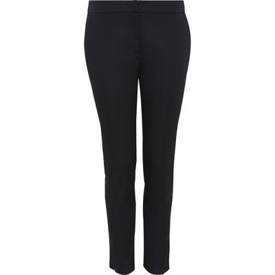 Hallhuber Side Vent Trousers Charlotte, Black