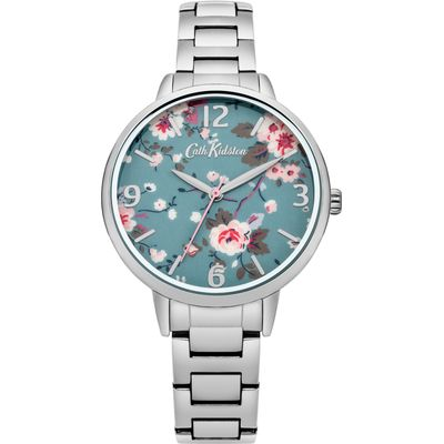 Cath Kidston Trailing rose watch, Silver