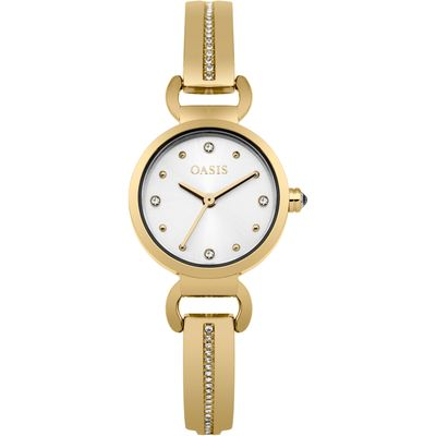 Oasis Ladies gold tone bangle watch, Gold
