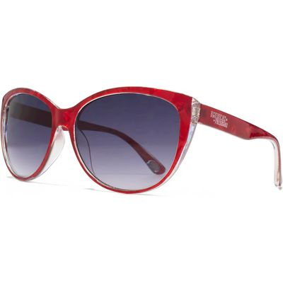 American Freshman 26AFS017 Red Marble Cateye Sunglasses, Red