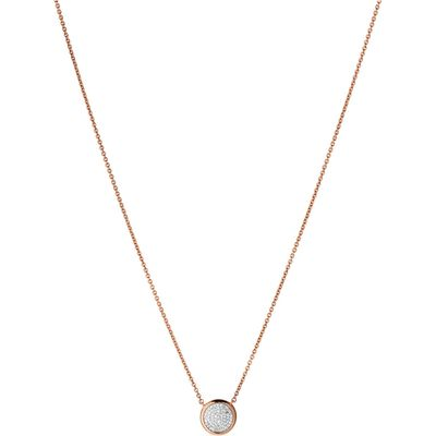 Links of London Diamond Essentials Round Necklace, Rose Gold