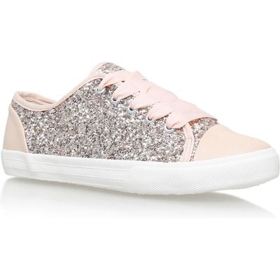 Carvela Jasper flat lace up trainers, Nude