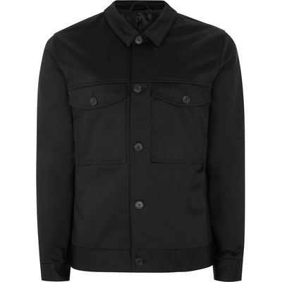 Men's Topman Black Western Worker Jacket, Black